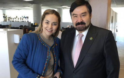 Bulat Sarsenbayev, Chairman of the Board of the N. Nazarbayev Center for Development of Interfaith and Inter-Civilization Dialogue, and Maya Bekbayeva, General Director of «Qazaq TV», agreed to further cooperation